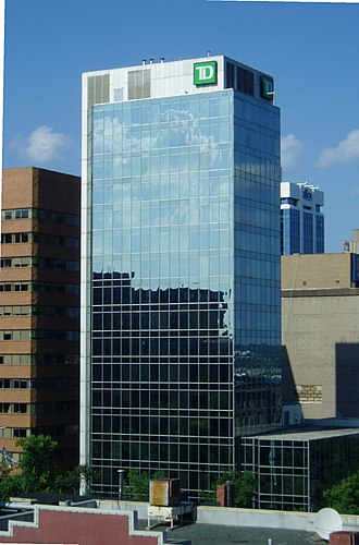 Downtown Halifax - TD Centre on Barrington and George Street. All Big Five Canadian banks have major operations downtown.