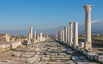 La rue de Syrie, à Laodicée du Lycos, ancienne capitale de Phrygie. (définition réelle 7185×491)