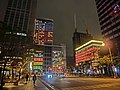 TW 台北 Taipei 信義區 Xinyi District 松智路 Songzhi Road view SongGao Road shopping malls night Feb-2013.JPG