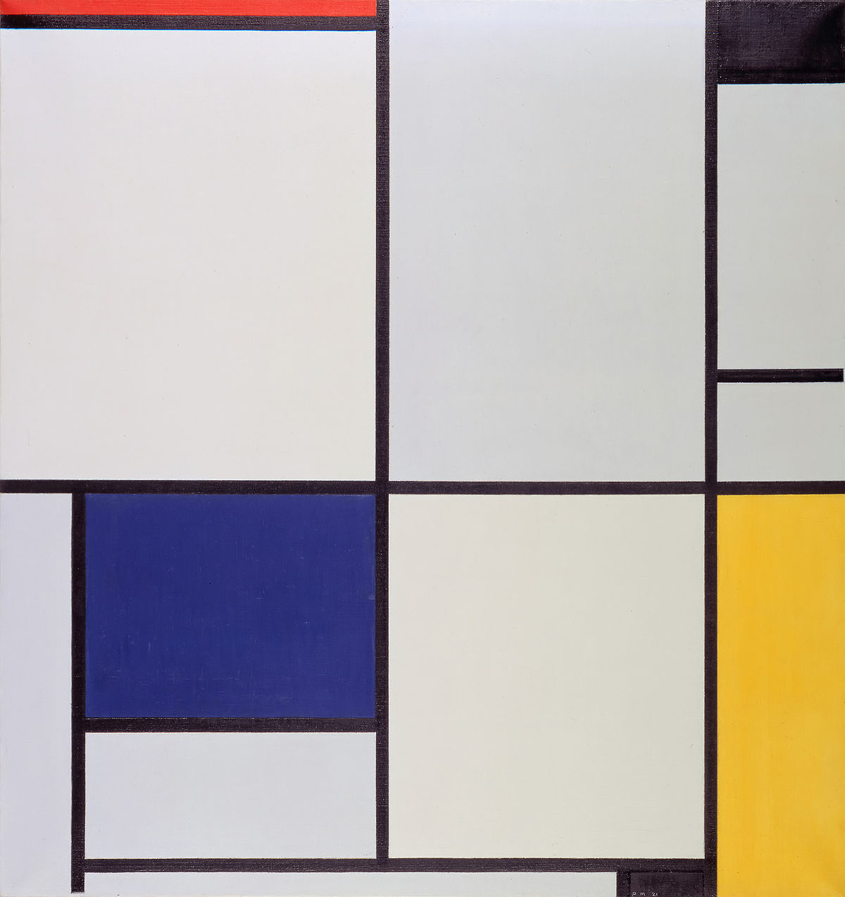 Piet Mondriaan abstract painting Tableau I, from 1921