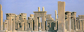 The ruins of Persepolis, approximately 2500 years old. (see 3D modeling)