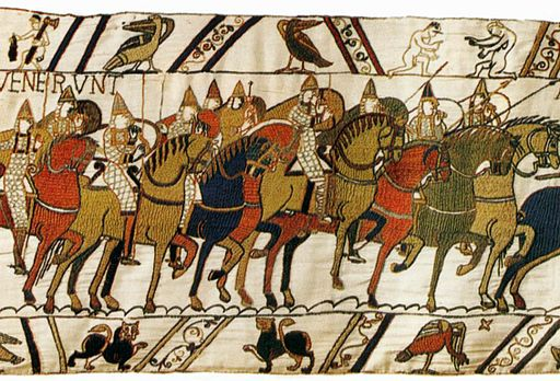 Tapestry by unknown weaver - The Bayeux Tapestry (detail) - WGA24163