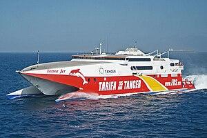 High-speed craft - Tarifa Jet - a high-speed wavepiercer catamaran by Incat