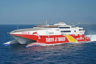 High-speed craft - Tarifa Jet, a high-speed wavepiercer catamaran by Incat