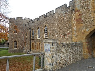 William Bonville, 1st Baron Bonville - The main gate, in 2017, of Bonville's castle at Taunton, which was besieged by the Earl of Devon.
