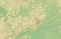 Taunus (Relief) - Deutsche Mittelgebirge, Serie A-de.png