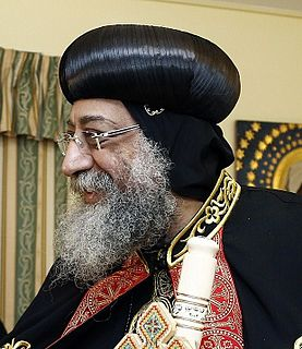 Pope of the Coptic Orthodox Church of Alexandria Leader of the Coptic Orthodox Church of Alexandria, Egypt