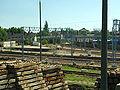 Tczew, Kolejowa, práce na trati.JPG