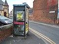 Telephone kiosk on Quay Road, Bridlington (geograph 5830046).jpg