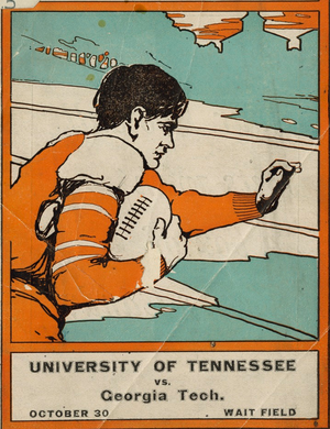 1909 Southern Intercollegiate Athletic Association football season - Image: Tennessee Volunteers 1909 program cover