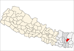 map of Terhathum, Nepal
