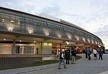 Fachada do Terminal Multimodal de Campinas.