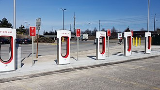 CF Markville - Image: Tesla Chargers In Markville