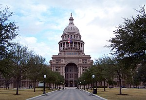 The Texas State Capitol located at 30.2745° -9...