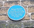 Th'owd Towser - Blue plaque - behind Holy Trinity Church - geograph.org.uk - 500173.jpg