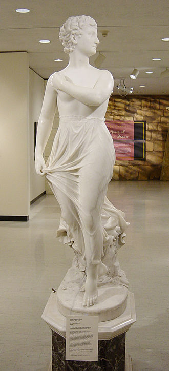 Marble sculpture - Thomas Ridgeway Gould, The West Wind. (frontal view) 1876