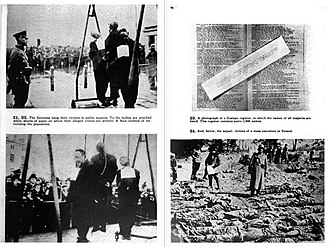 Nazi crimes against the Polish nation - Photos from The Black Book of Poland, published in London in 1942 by Polish government-in-exile.