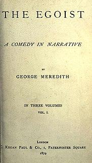 <i>The Egoist</i> (novel) book by George Meredith
