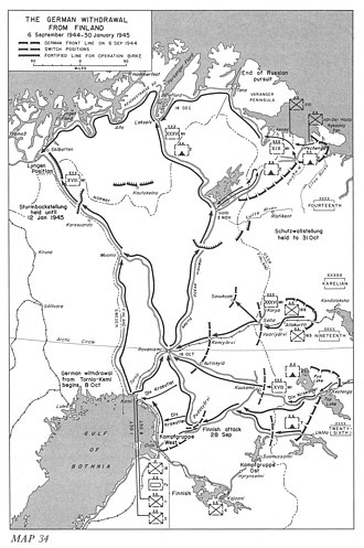 Lapland War - Operations Birke and Nordlicht, the German withdrawal from Finland from 6 September 1944 to 30 January 1945
