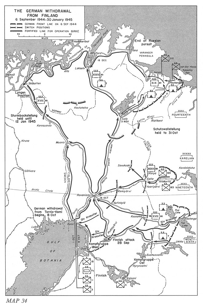 Operations Birke and Nordlicht, the German withdrawal from Finland from 6 September 1944 to 30 January 1945 The German withdrawal from Finland.jpg