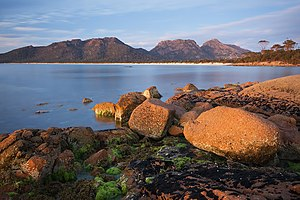 Freycinet Peninsula - The Hazards, as seen from Hazards Beach.
