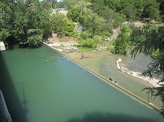 Castroville, Texas - Image: The Medina River in Castroville, TX IMG 3243