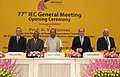 The Minister of State (Independent Charge) for Consumer Affairs, Food and Public Distribution, Professor K.V. Thomas presiding over the opening ceremony of the 77th IEC General Meeting, in New Delhi on October 21, 2013.jpg