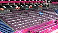 The North Greenwich Arena prepares for the Olympic artistic gymnastics (7738531872).jpg