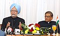 The Prime Minister, Dr. Manmohan Singh addressing a Press Conference, on the sidelines of the 15th NAM Summit, at Sharm El Sheikh, Egypt, on July 16, 2009.jpg