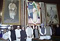 The Prime Minister, Dr. Manmohan Singh paid tributes to Smt Indira Gandhi on her 88th birth anniversary at Parliament House, in New Delhi on November 19, 2005.jpg