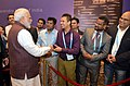 The Prime Minister, Shri Narendra Modi being welcomed by the Indian community, on his arrival, to attend the 9th BRICS Summit, in Xiamen, China on September 03, 2017 (5).jpg