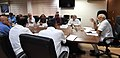 The Prime Minister, Shri Narendra Modi chairing a high level meeting with the officials to take stock of the flood rescue and relief operations, at Kochi, in Kerala.JPG