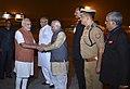 The Prime Minister, Shri Narendra Modi departs from Varanasi, Uttar Pradesh after launching various projects on October 24, 2016. The Governor of Uttar Pradesh, Shri Ram Naik is also seen.jpg