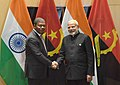 The Prime Minister, Shri Narendra Modi in a bilateral meeting with the President of Angola, Mr. Joao Lourenco, on the sidelines of the BRICS Summit, in Johannesburg, South Africa on July 26, 2018.JPG