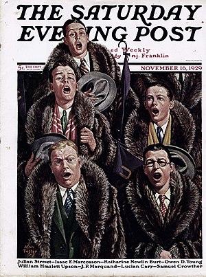 Raccoon coat - The Saturday Evening Post, November 16, 1929