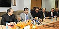 The Secretary, Department of Industrial Policy and Promotion (DIPP), Shri Amitabh Kant and the CEOs from Silicon Valley interacting with the media regarding the Start Up Programme, in New Delhi on January 15, 2016.jpg