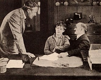 The Soul of Youth - Still with director William Desmond Taylor, Lewis Sargent, and jurist Benjamin Barr Lindsey
