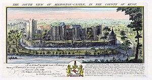Allington Castle - View of Allington Castle, 1735