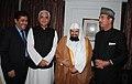 The Union Minister for Health and Family Welfare, Shri Ghulam Nabi Azad hosted a dinner in honour of the Imam-e-Haram, Mecca, Mr. Fazilatul Shaikh Dr. Abdur Rahman Abdul Aziz al Sudais, in New Delhi on March 24, 2011.jpg