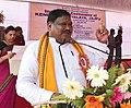 The Union Minister for Tribal Affairs, Shri Jual Oram addressing at the inauguration of the newly constructed building of Kendriya Vidyalaya, Kendrapada, in Odisha on April 10, 2018.jpg