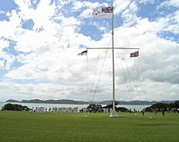 The flag post by the treaty house - Waitangi.jpg