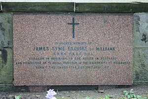 James Syme - The grave of James Syme, St John's Episcopal Churchyard, Edinburgh