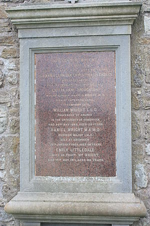 William Wright (orientalist) - The grave of Prof William Wright, St Andrews Cathedral churchyard