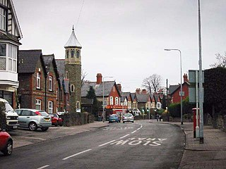 Llanishen district in the north of Cardiff, Wales