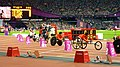The racers preparing for the Mens 200m T53 final (9378430624).jpg