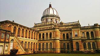 Cooch Behar Palace - The rear side of Cooch Behar Palace, which retains the original color of the monument.
