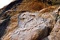 The rock-relief of Naram-Sin at Darband-i Gawr, c. 2200 BC, Sulaymaniyah, Iraq.jpg
