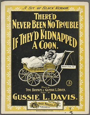 Gussie Davis - Cover of sheet music for one of Davis' songs