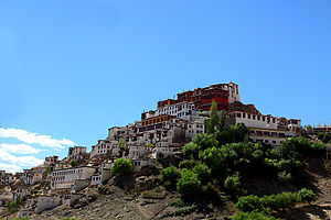 Thikse Monastery - Outside View of Thiksey Monastery