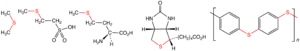 Thioether - Selected thiothers, from left, dimethylsulfide, coenzyme-M, the amino acid methionine, the vitamin biotin, and the engineering plastic polyphenylene sulfide.